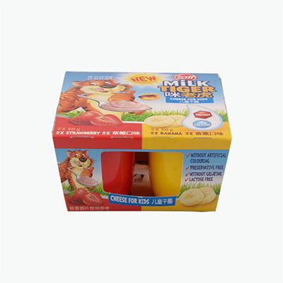 Zott Milk Tiger Cheese for kids (Strawberry&Banana  ) 4x50g