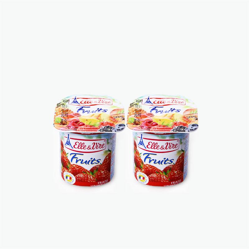 Elle & Vire Strawberry Yogurt 125g x2