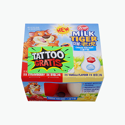 Zott Milk Tiger Yogurt for Kids with (strawberry or vanilla) 4*50g