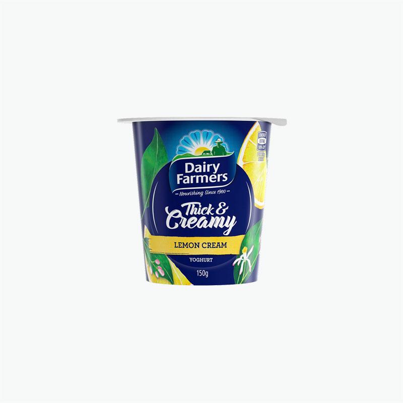 Dairy Farmers Lemon Cream Thick & Creamy Yogurt 150g