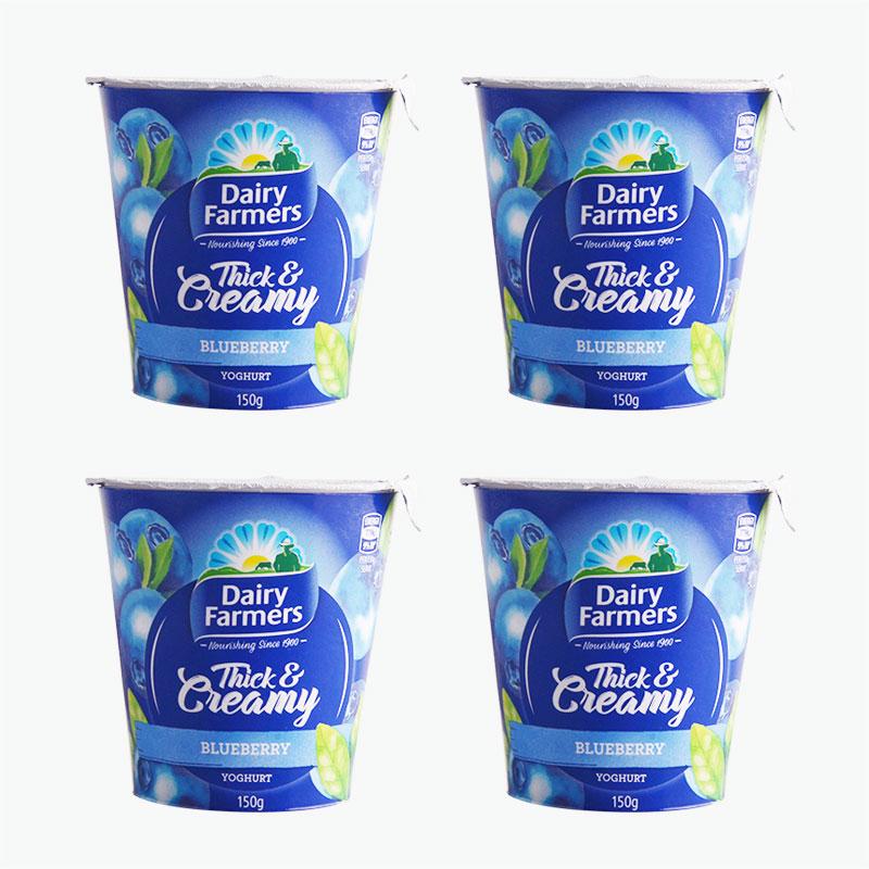 Dairy Farmers Creamy Blueberry Yogurt 150g x4