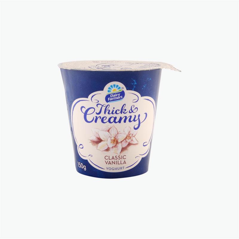 Dairy Farmers Vanilla Thick & Creamy Yogurt 150g