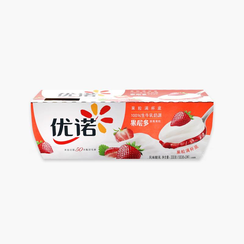 Yoplait, 'Panier de Fruits' Yogurt (Strawberry) 100g x3