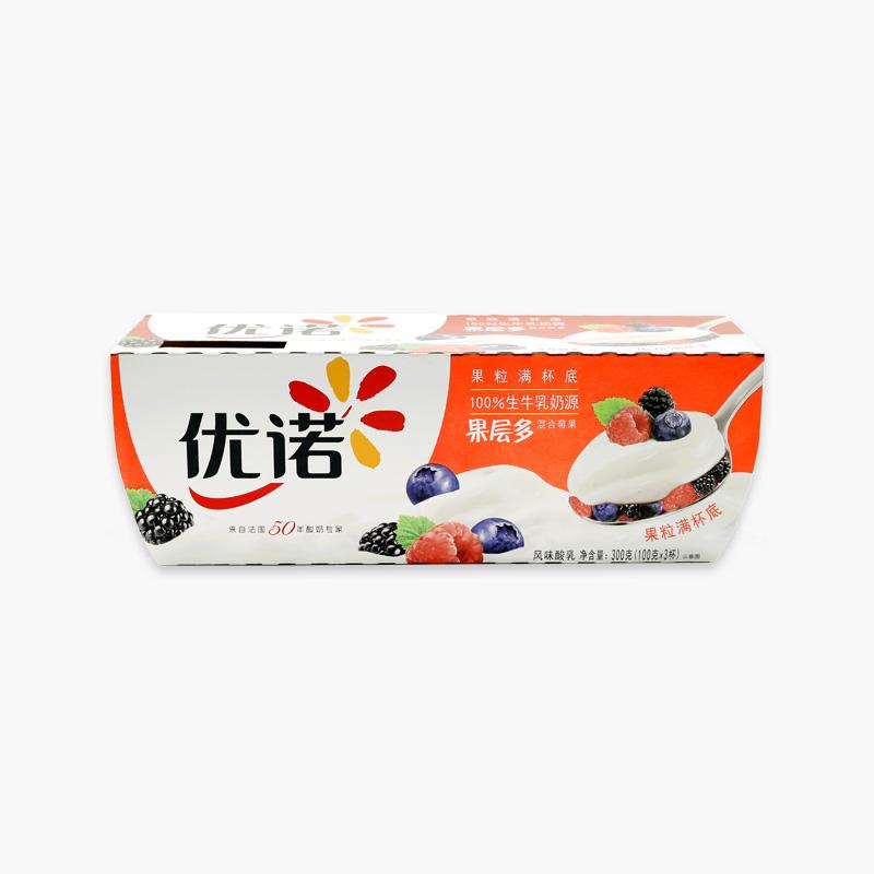Yoplait Panier de Fruits Mixed Berry Yogurt 100g x3
