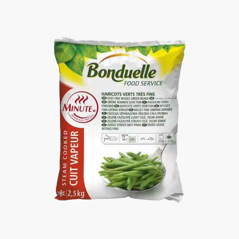 Bonduelle Frozen Very Fine Green Beans  2.5kg