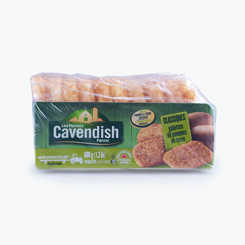 Cavendish Farms, Hash Brown Patties (Classic) 600g
