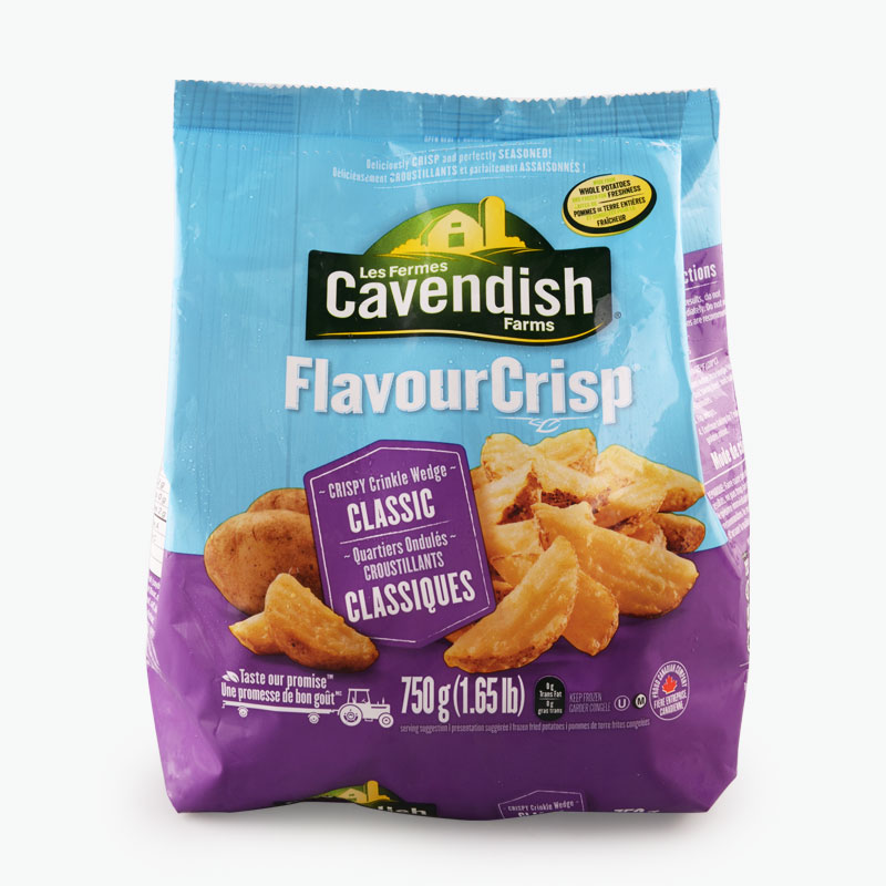 Cavendish Farms, 'FlavourCrisp' Crispy Crinkle Wedge Fries 750g