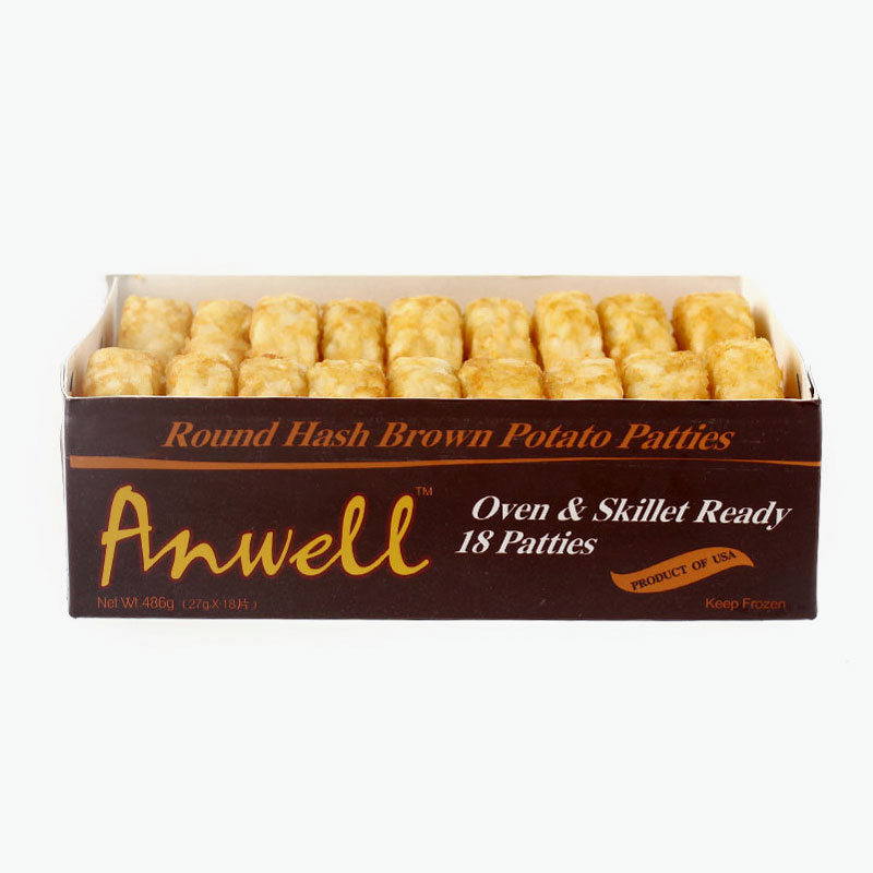 Anwell, Round Hash Brown Potato Patties 468g