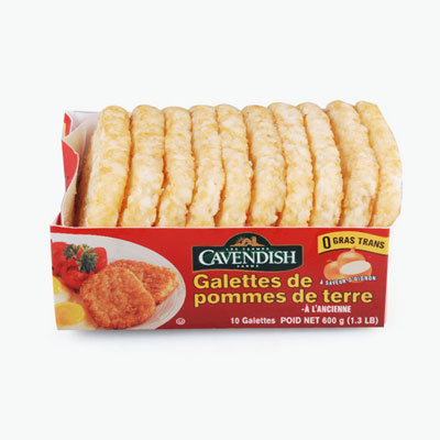 Cavendish Farms, Hash Browns Patties (Onion) 600g