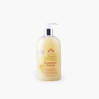 English Breeze, Anti-Bacterial Hand Soap (Summer Honey) 500ml