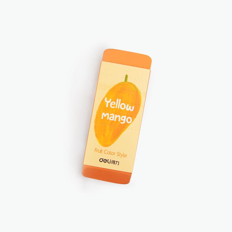 Deli, Scented Jumbo Eraser (Mango) x1