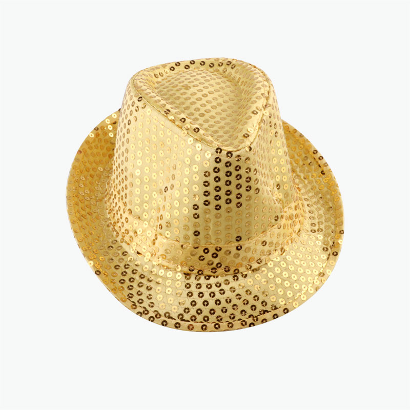 Bright Yellow Sequined Hat 1pcs