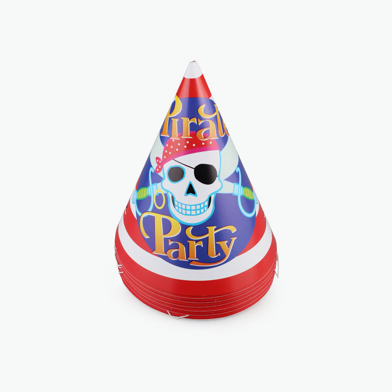 Pirate Party Hats x12