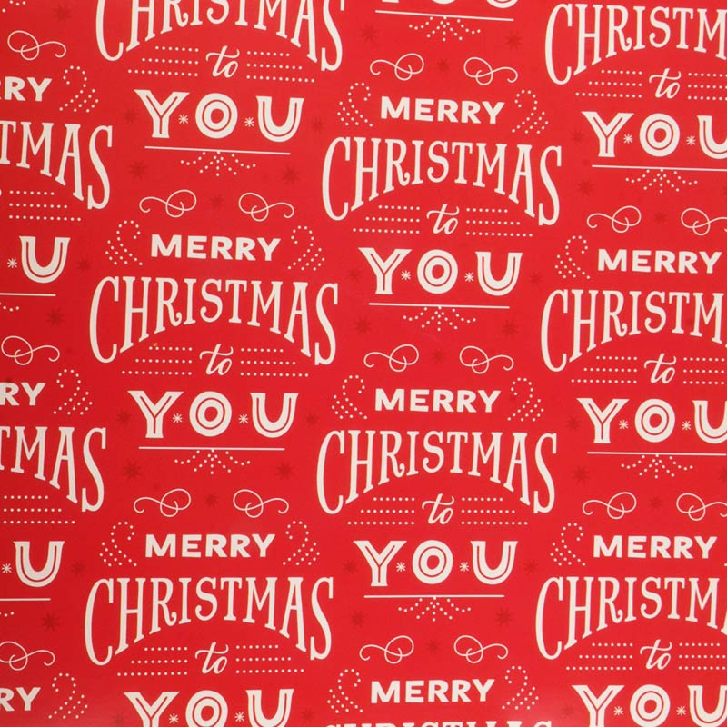 Hallmark Christmas Red Wrapping Paper