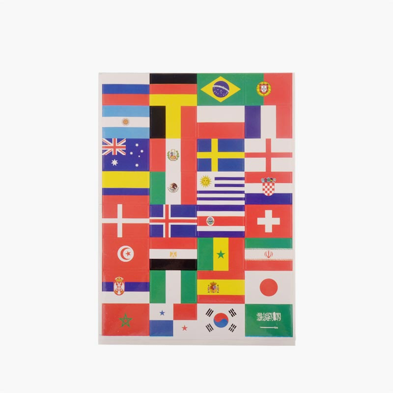 2018 Fifa World Cup National Flag Stickers 10 pcs