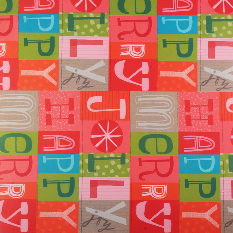 Hallmark Christmas Letters Wrapping Paper