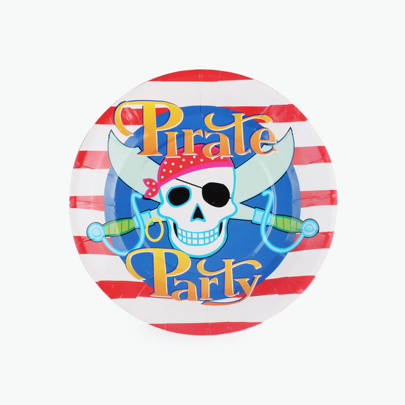 Pirate Party Paper Plates x12