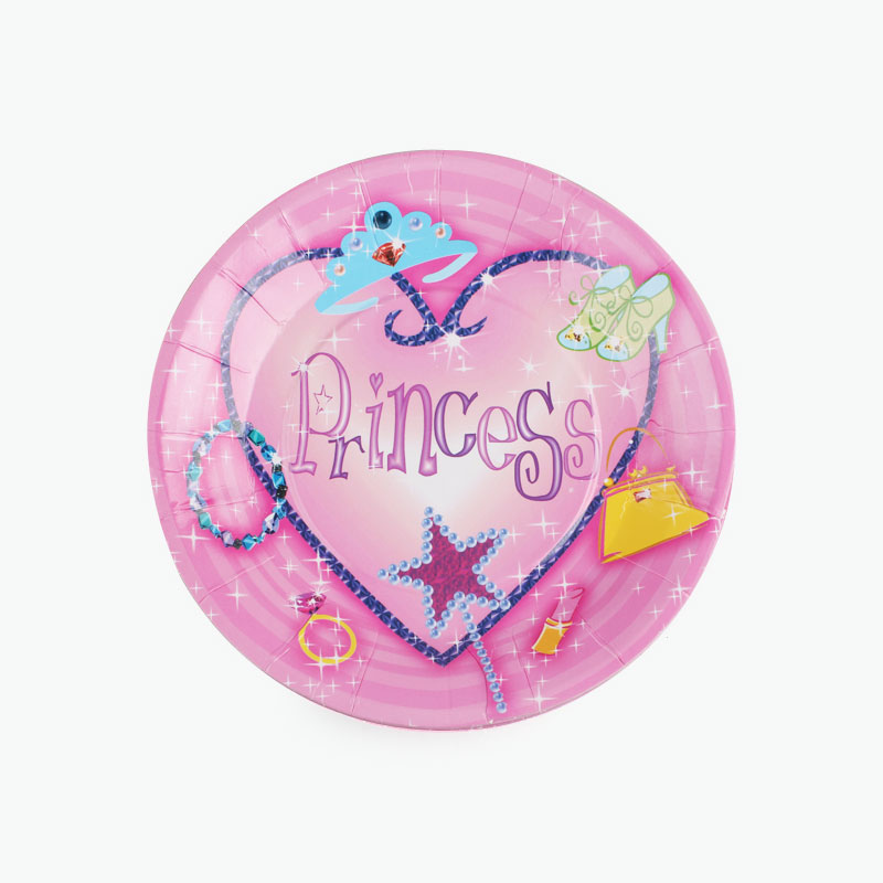 Princess Party Paper Plates x12