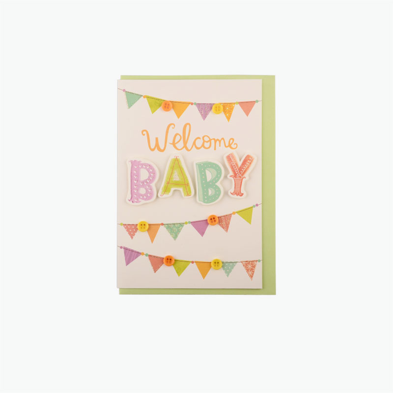 Hallmark Happy Newborn Greeting Card 1pc