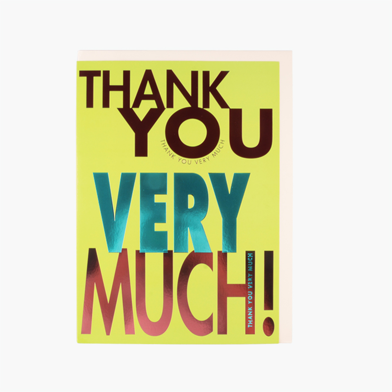 Hallmark A4 Size Thank You Greeting Card 1 pc