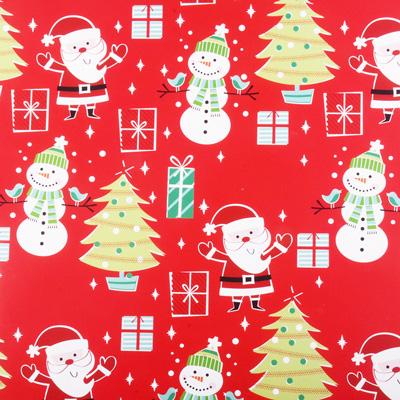 Hallmark Christmas Red Santa Wrapping Paper