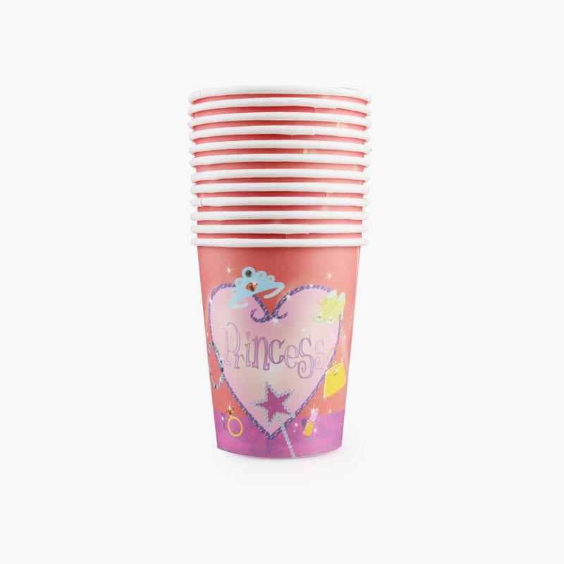 Princess Party Paper Cups x12