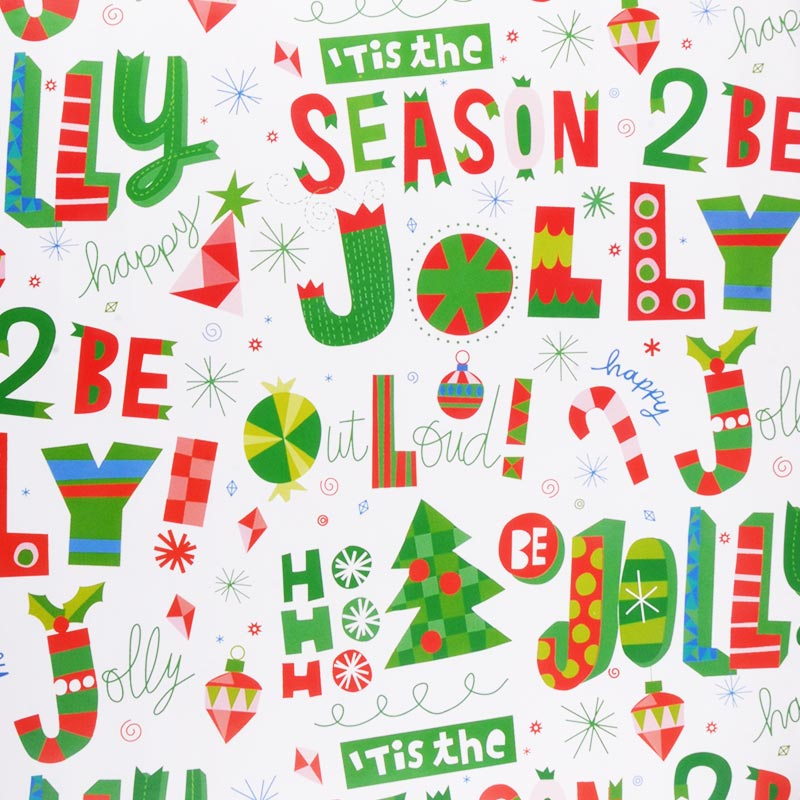 Hallmark Christmas Green and White Wrapping Paper