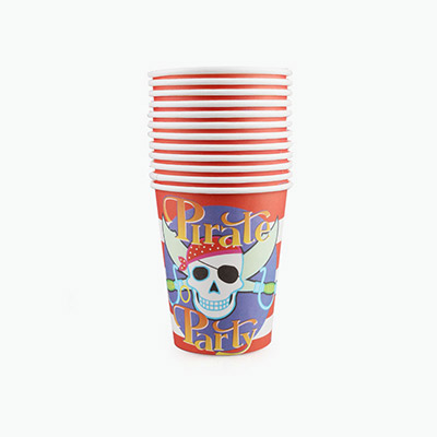 Pirate Party Paper Cups x12