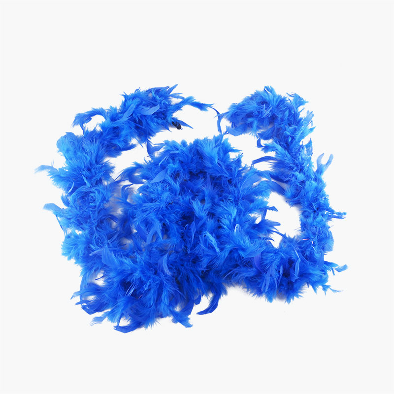 Sapphire Blue Feather Party Boa 2m