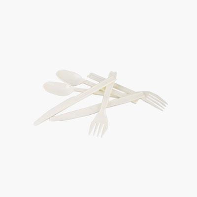 Yusei, Plastic Cutlery x6 (x2 spoons, x2 forks, x2 knifes)