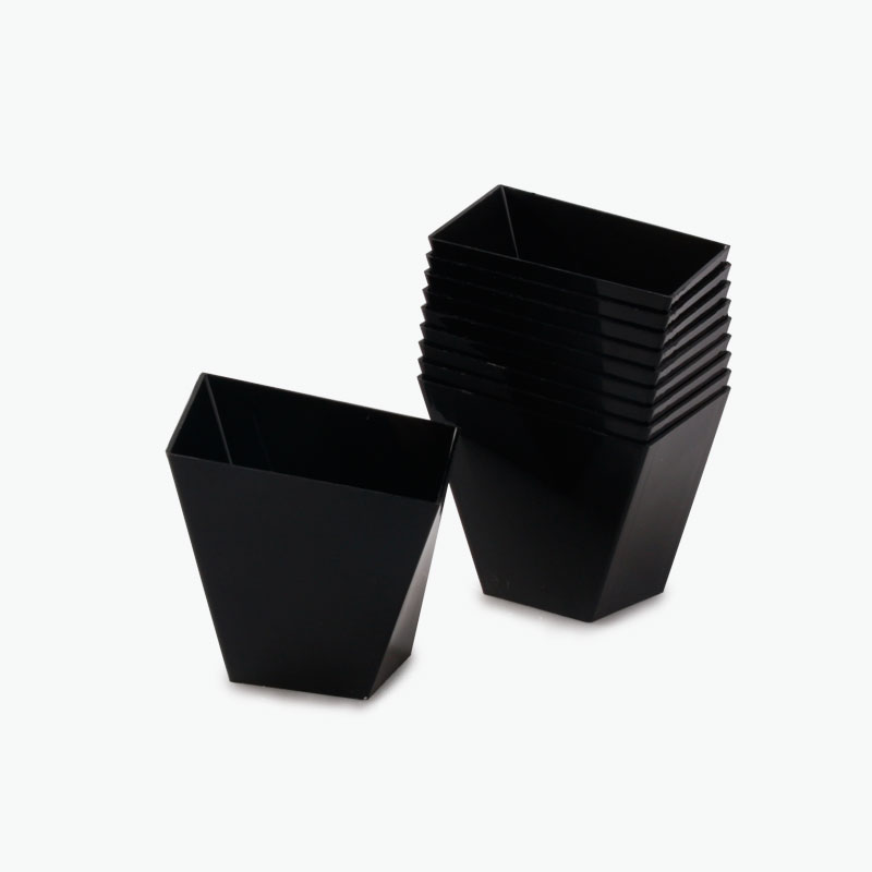 Disposable Pudding Dishes (Black) x10
