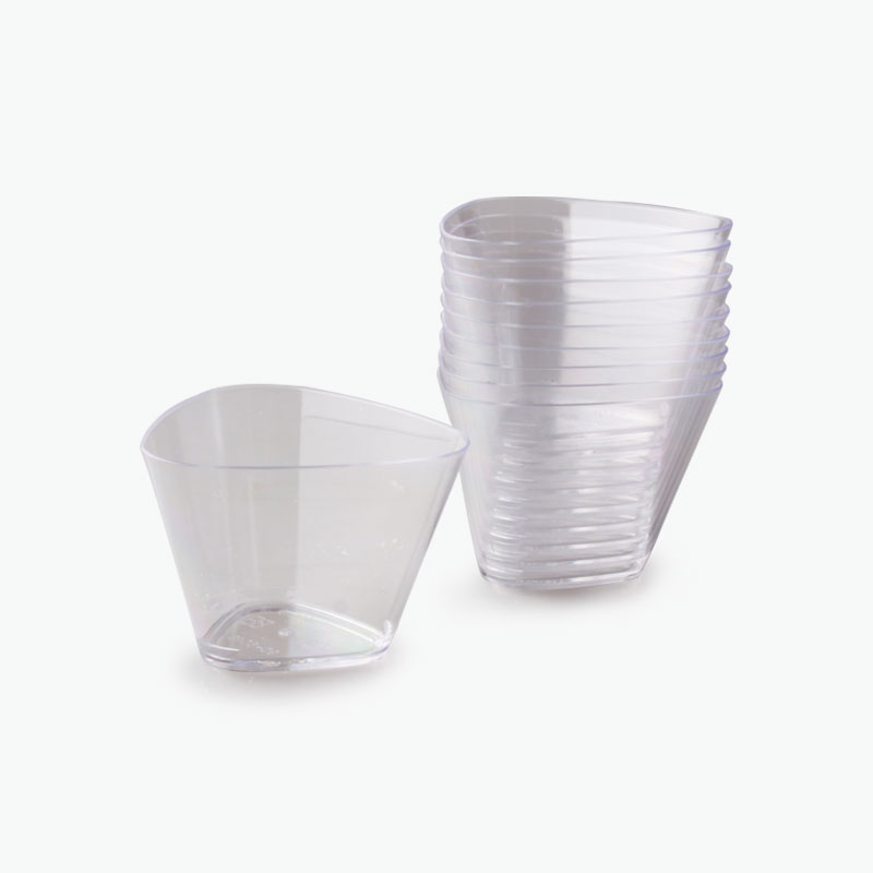 Triangular Disposable Pastry Dishes (Transparent) x10
