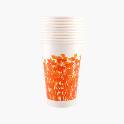 Yusei, Disposable Paper Cups with Colorful Stripes x10