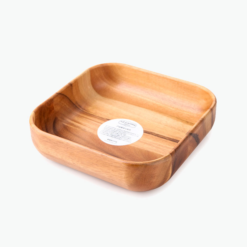LC Living, Acacia Wood Square Bowl (L) x1