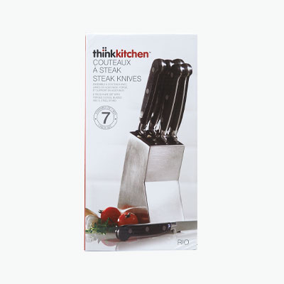 think kitchen stokes rio ss knife block w6 knives - Think Kitchen