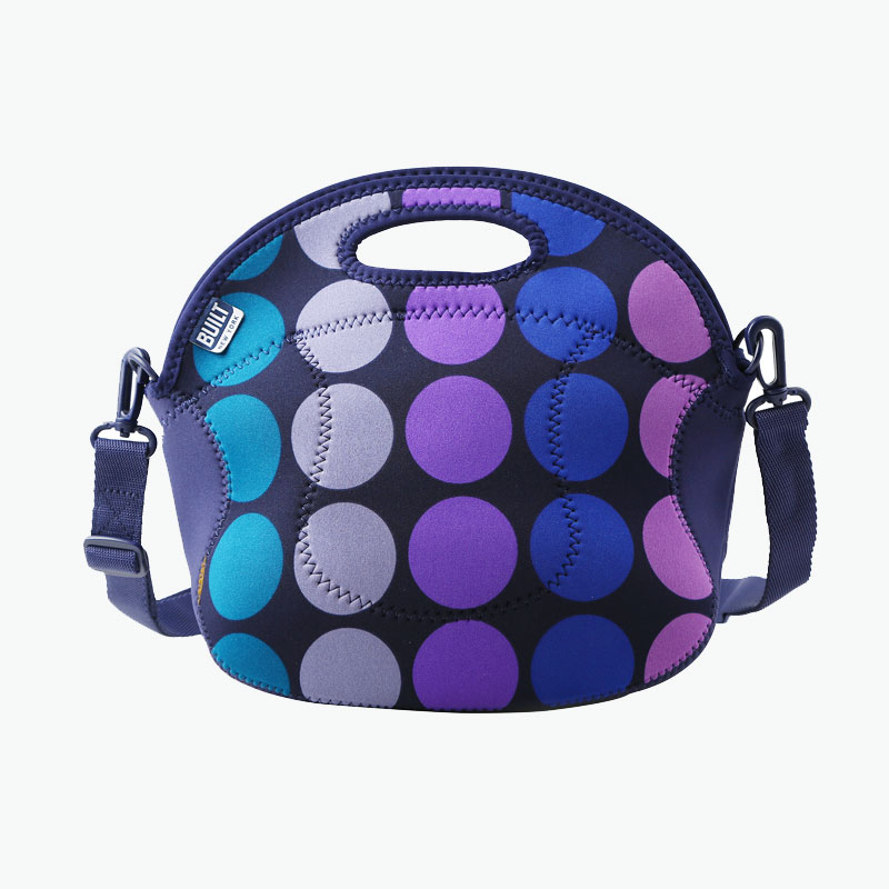 Built NY, 'Spicy Relish' Lunch Tote (Plum Dots) x1