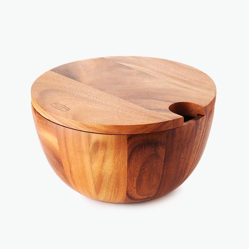 LC Living, Acacia Wood Salad Bowl & Cutting Board Set x1