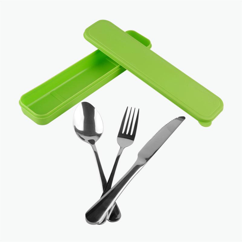 Stainless Steel Tableware Set (green)