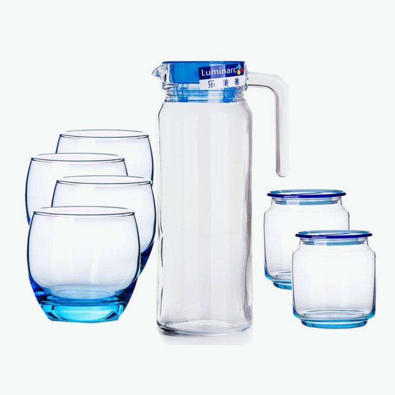 Luminarc, 'Rotterdam' Drinkware Set (Ice Blue) x7