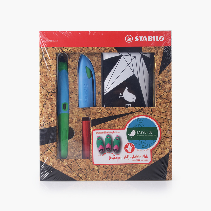 Stabilo, 'EASYbirdy' Fountain Pen Gift Set (Blue, Sky Blue/Green Casing)