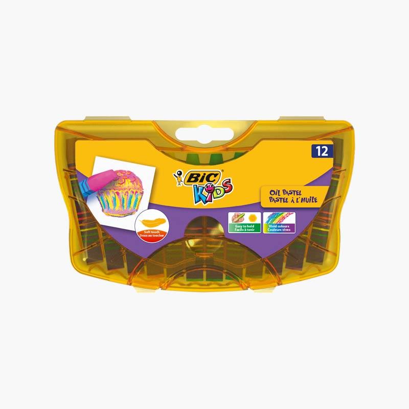 BIC 12 Color Oil Pastel in Plastic Casing