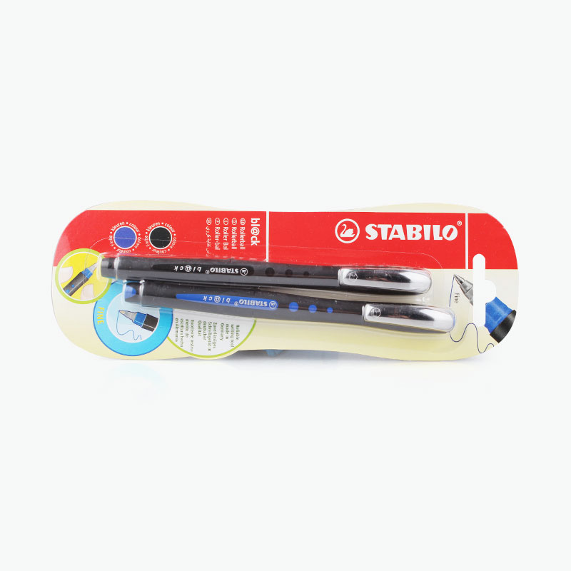 Stabilo, Blue & Black Pens x2