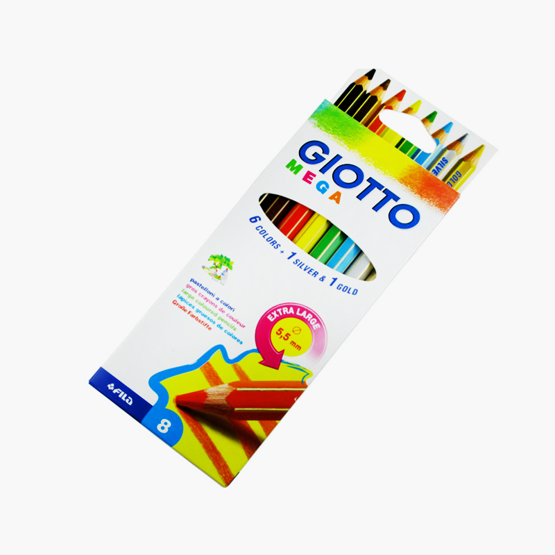 Giotto, 'Mega' Extra Large Colored Pencils x8