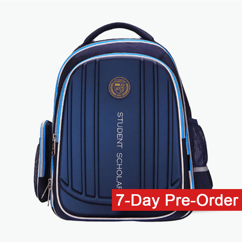 Deli, Double Compartment Backpack (Dark Blue) x1