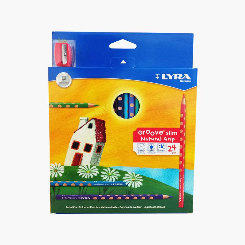 Lyra, 'Groove Slim' Triangular Colored Pencils x24