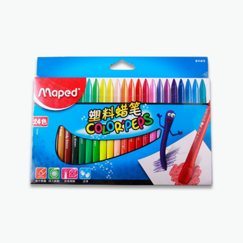 Maped, Smart Plastic Coloring Crayons x24