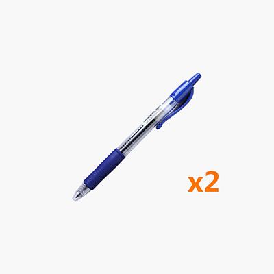 Pilot, 'G-2 Gel Pen' Rolling Ball Gel Ink Pen (0.5mm Blue) x2