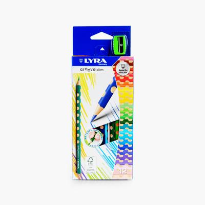 Lyra, 'Groove Slim' Triangular Colored Pencils x12