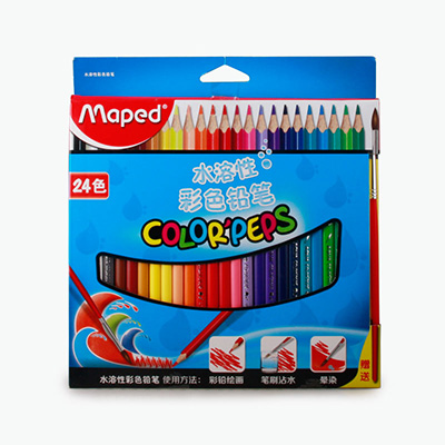 Maped, Water Soluble Coloring Pencils x24