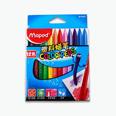 Maped, Smart Plastic Coloring Crayons x12